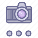 camera, more, shotting icon