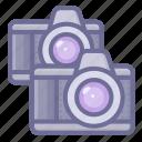 camera, dual, shotting icon