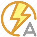 auto flash, flash icon