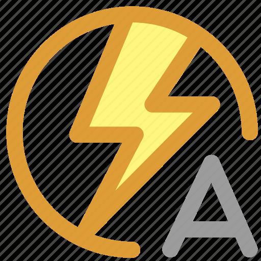 auto flash, flash icon