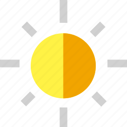 brightness, camera, contrast icon