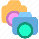 camera, dual camera, shotting icon