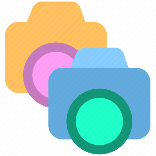 camera, dual camera, shotting icon