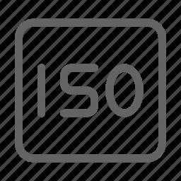 camera, iso, photography icon