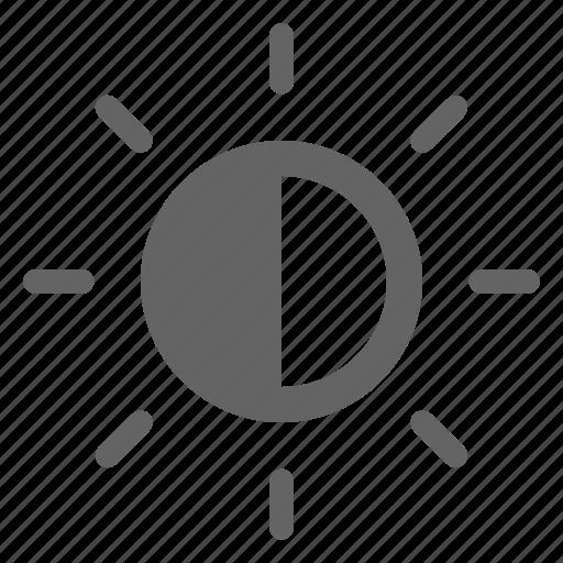 bright, brightness, contrast icon