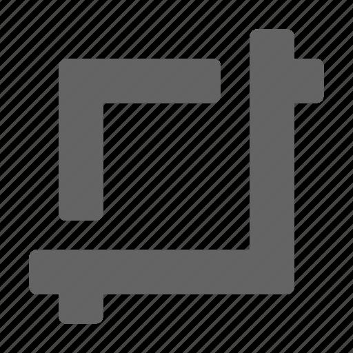 crop, photo, tool icon