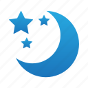 dark, moon, night, star, stars icon
