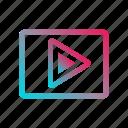 image playback, media, photo, photography, play, slide, slideshow icon