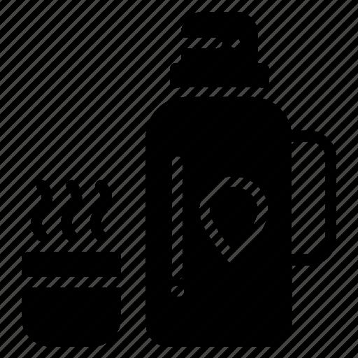hot tea, percolator, tea, thermos, vacuum bottle icon