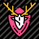 deer, horns, hunting, trophy, winner icon