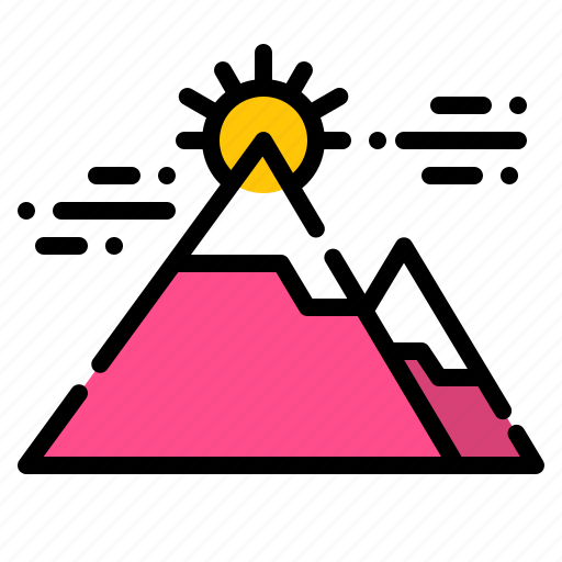 camping, goal, landscape, mountain, nature icon
