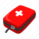 camping, first aid kit, medicine, rest, tourist camp, travel icon