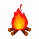 camping, fire, firewood, flame, rest, tourist camp, travel icon
