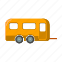 camping, caravan, rest, tourist camp, trailer, travel icon