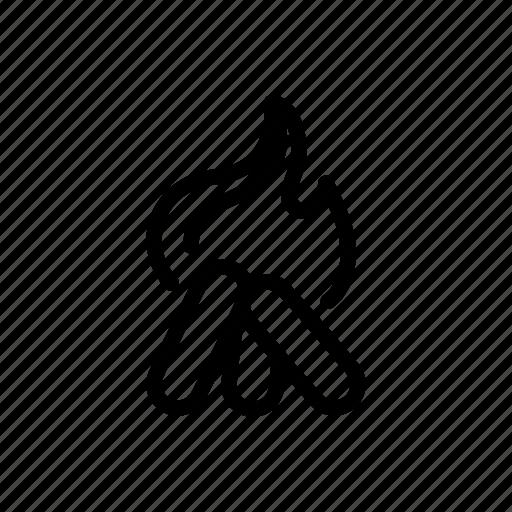 camp, fire icon