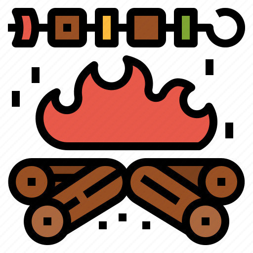 barbecue, bbq, camping, grill, party icon