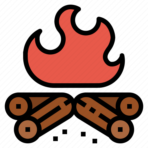 bern, camp, camping, fire, hot icon