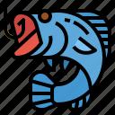 activity, camping, fish, fishing, hook icon