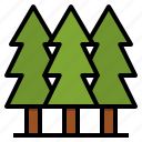 camping, forest, nature, park, trees icon