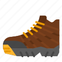 backpacking, camping, hiking, shoes, trekking icon