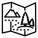 adventure, chart, landscape, map, plan, travel icon