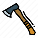 axe, camping, carpenter, hatchet, tool icon