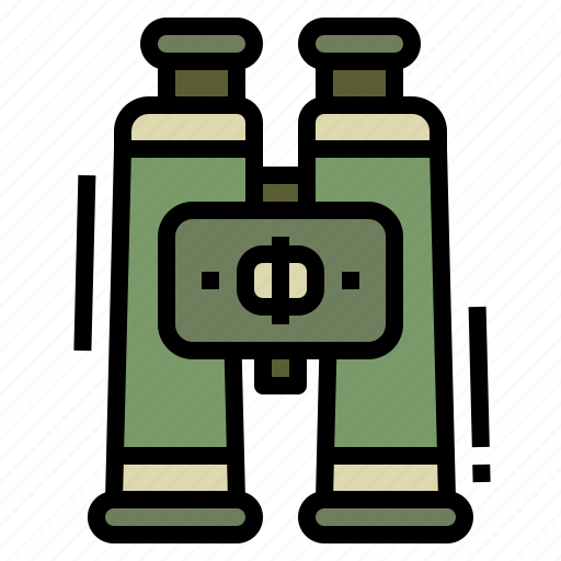 binoculars, camping, find, holiday, search icon