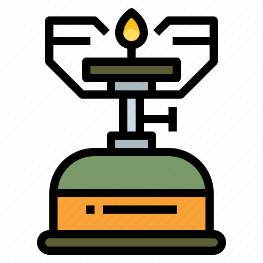 camping, cook, gas, picnic, stove icon