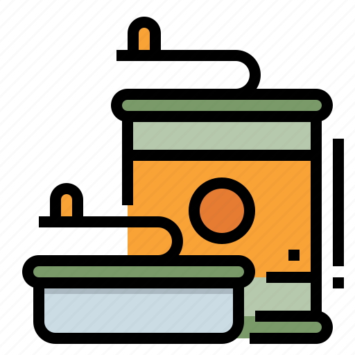 camping, canned, food, goods, meal icon