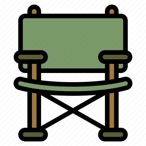 camp, camping, chair, fishing, folding icon