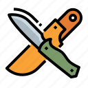 camping, dagger, hunting, knife, tool icon