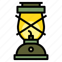 camp, camping, lamp, lantern, light icon