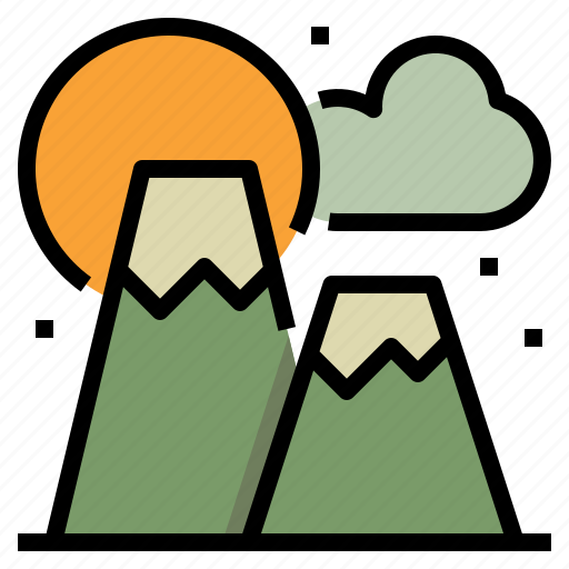 camping, hill, landscape, mountain, nature icon