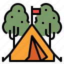 camp, camping, lifestyle, tent, wigwam icon