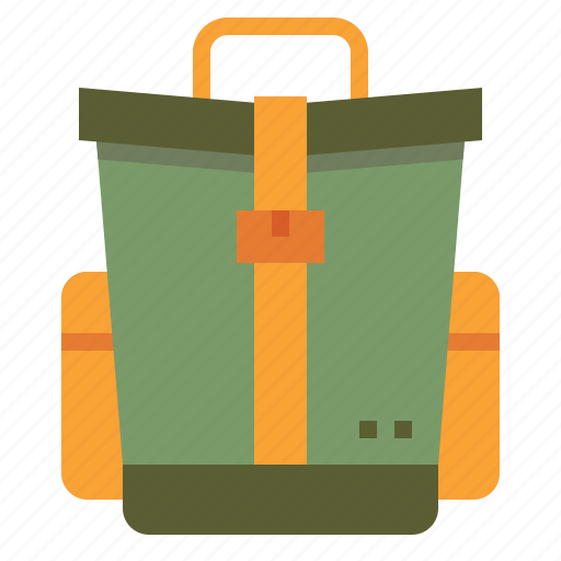 backpack, bag, camping, tourist, travel icon