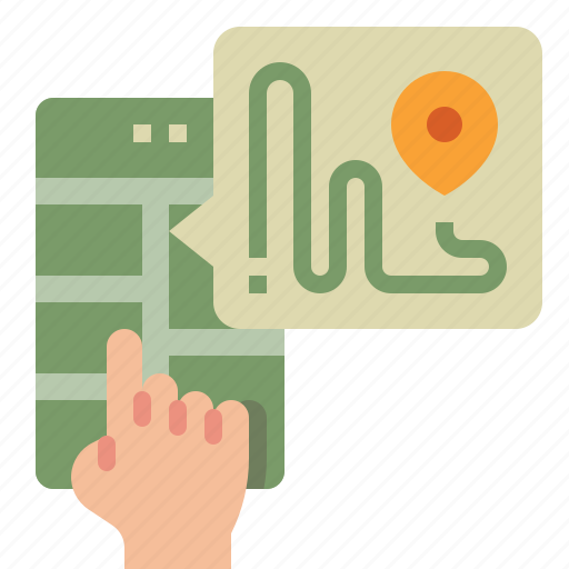 gps, location, map, navigation, route icon