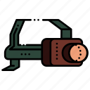 camping, flaslight, headlamp, headlight icon