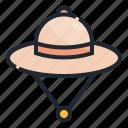 accesory, clothing, explorer, hat, jungle