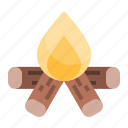 bonfire, camp, camping, fire, outdoor, wood
