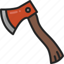 woodcutter, axe, tool, wood, equipment icon