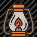 oil, lantern, light, fire, flame, camping, lamp