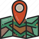 pointer, place, marker, location, map, pin, point
