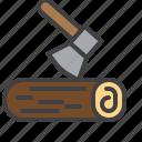 ax, wood, firewood, log