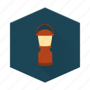 boards, camping, flashlight, individular, lantern icon