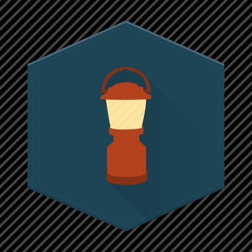 boards, camping, flashlight, individular, lantern icon