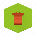backpack, boards, camping, individular icon