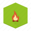 fire, campfire, individular, boards, camping