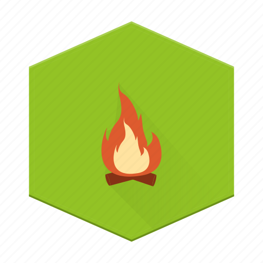 boards, campfire, camping, fire, individular icon