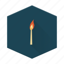boards, camping, fire, individular, match icon