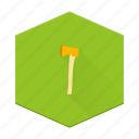axe, boards, camping, hatchet, individular, tool icon